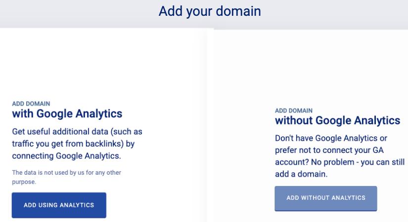 Monitor Backlinks - přidání domény