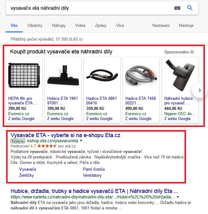 Sponzorované výsledky vyhledávání