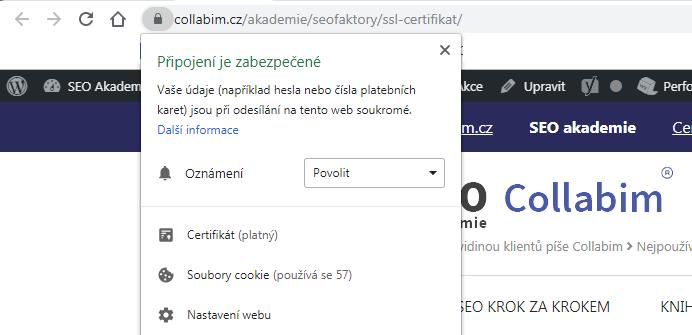 Příklad HTTPS na Collabimu