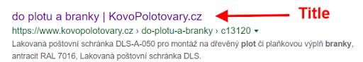 Zobrazení stránky e-shopu s neúplným popisem podkategorie ve výsledcích vyhledávání