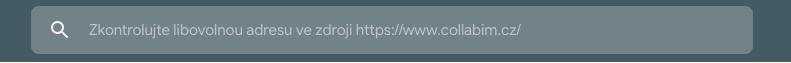 Zadání URL adresy ke kontrole indexace