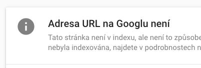 URL není na Google