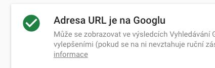 URL adresa je na Google